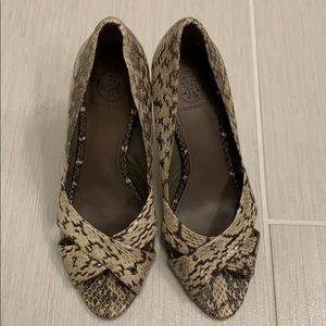 Tory Burch snakeskin heels